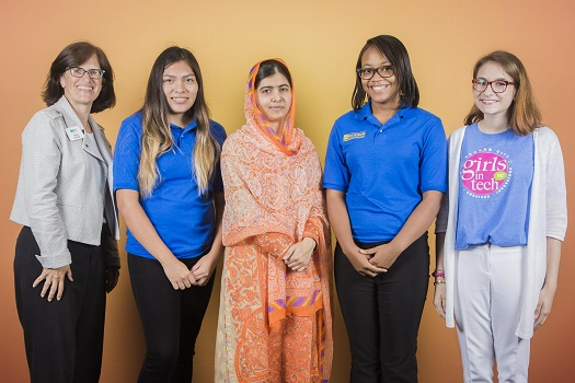 STEM girls and Malala Yousef