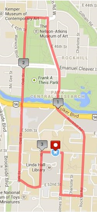 10k course map view on mapmyrun